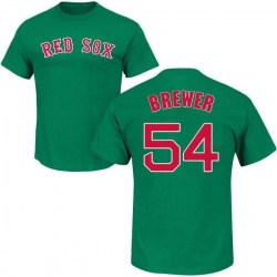Men's Colten Brewer Boston Red Sox St. Patrick's Day Roster Name & Number T-Shirt - Green