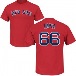 Men's Domingo Tapia Boston Red Sox Roster Name & Number T-Shirt - Scarlet