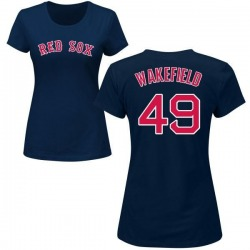 Women's Tim Wakefield Boston Red Sox Roster Name & Number T-Shirt - Navy